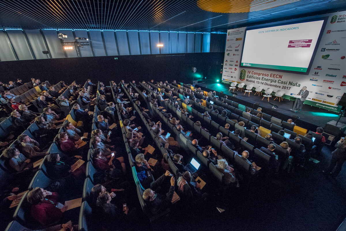 Imágen del Auditorio del 4 Congreso Edificios Energía Casi Nula