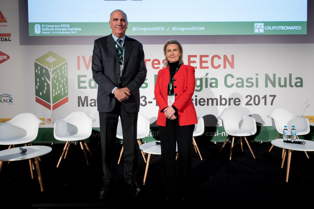 Inaguración del 4 Congreso Edificios Energía Casi Nula con Inés Leal y Antonio Aguilar