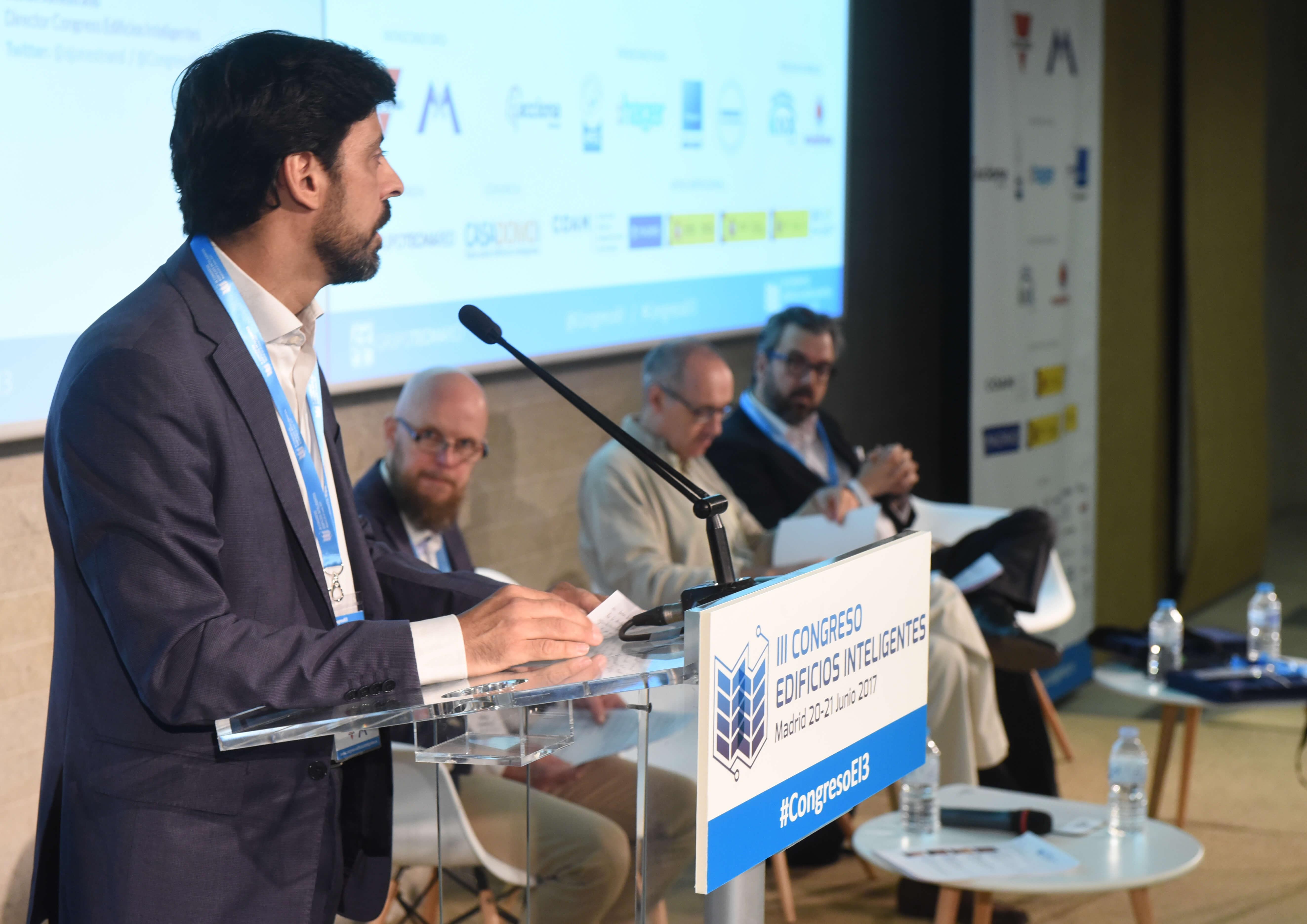 Francisco Javier Martín Ramiro, Subdirector General de Arquitectura y Edificación del Ministerio de Fomento en la inauguración del III Congreso Edificios Inteligentes.
