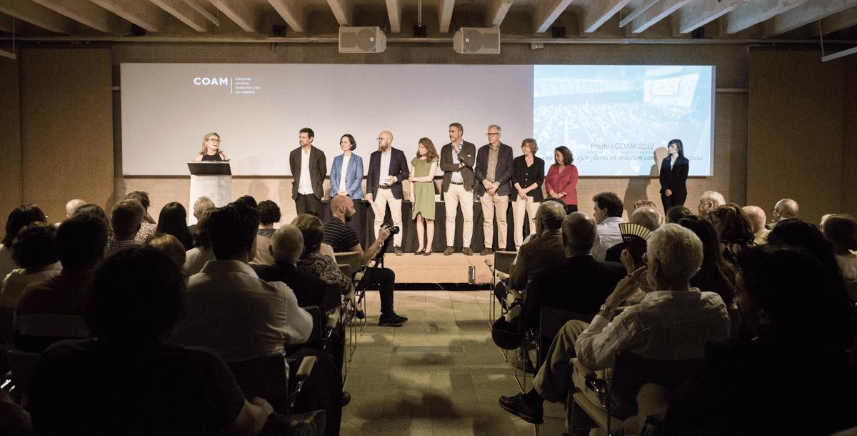 Acto de entrega de los Premios COAM 2019