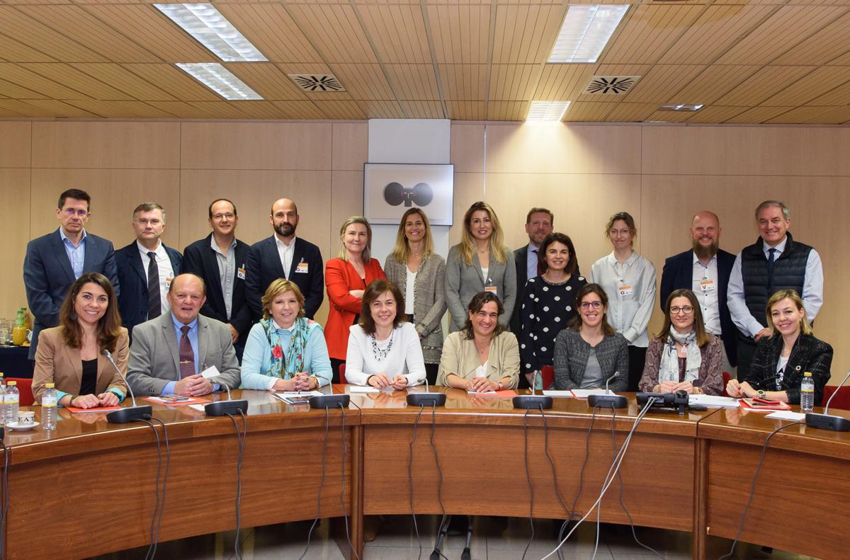 Foto de familia del Comité Técnico en la primera reunión