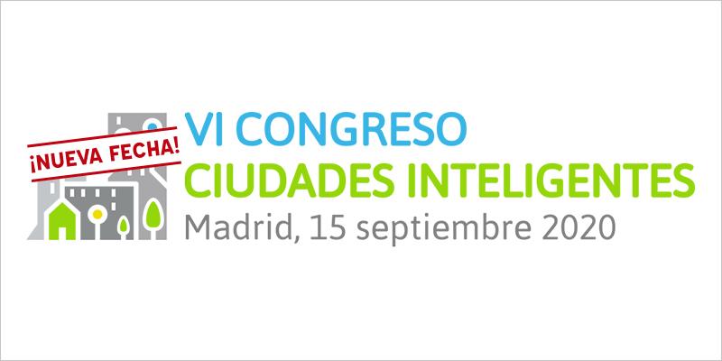 Logo nueva fecha VI Congreso Ciudades Inteligentes