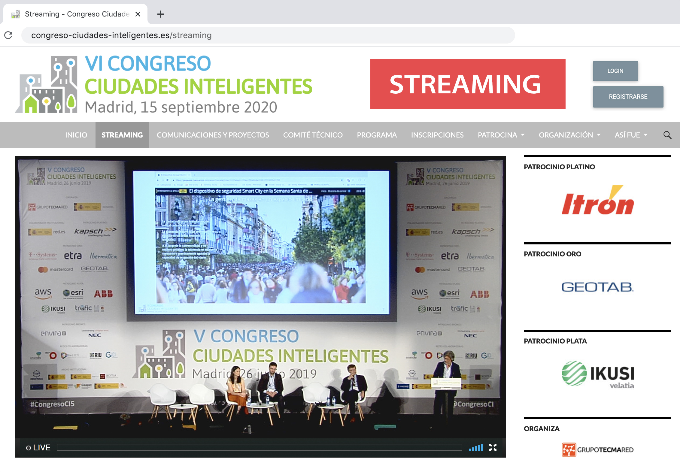 Congreso en streaming