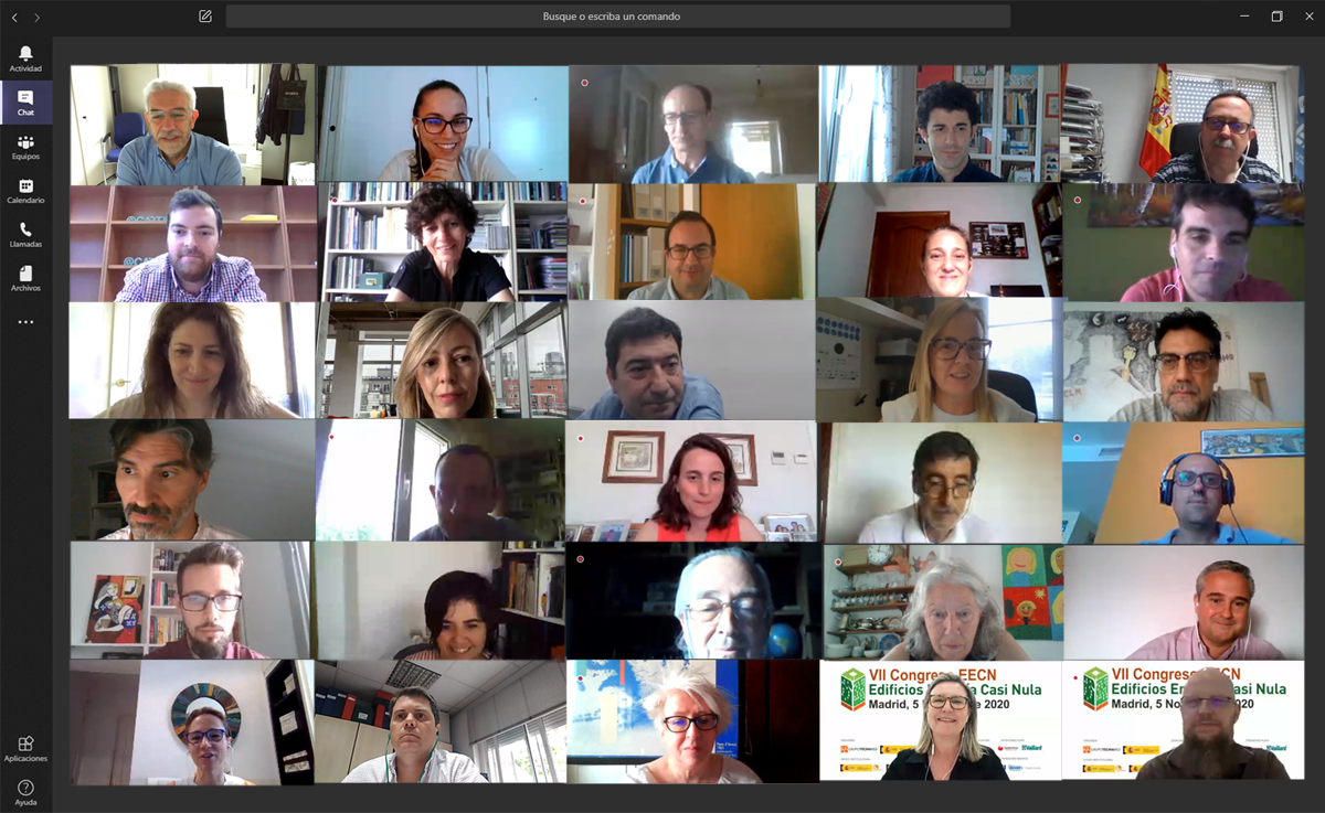 Miembros del Comité Técnico en pantalla
